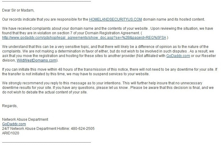 » 'Obama Truth Team' Orders GoDaddy To Shut Down Website