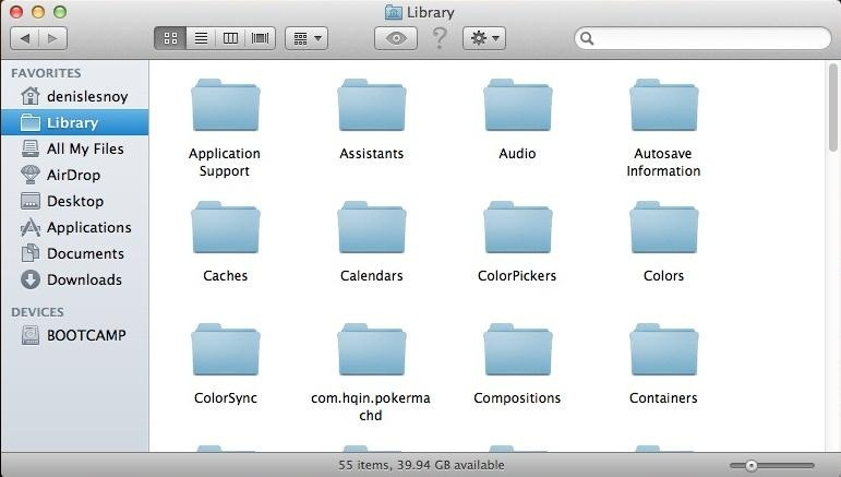 How to Access Your Library, in OS X Lion