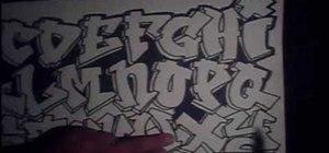 Draw the graffiti alphabet