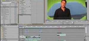 Use the green screen effect with your editing software