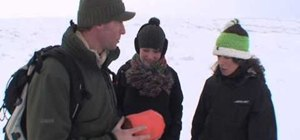 Survive on a cold and snowy mountain with a storm shelter