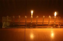 How to Start the First Night of Hanukkah 2010 (+ Make a DIY LED Menorah)