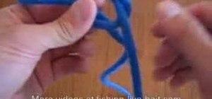 Tie a rapala knot