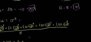 Measure dispersion with range, variance & std dev