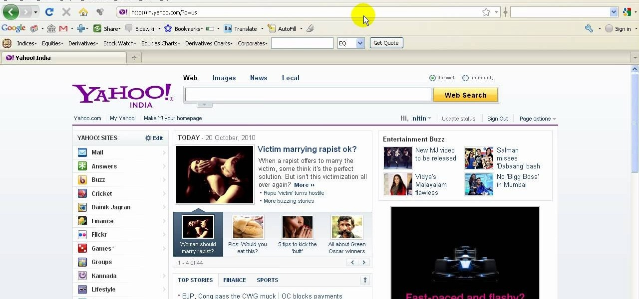 How to set up multiple homepages in the mozilla firefox web browser