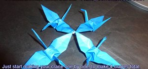 Make pinwheel shaped united cranes for beginners