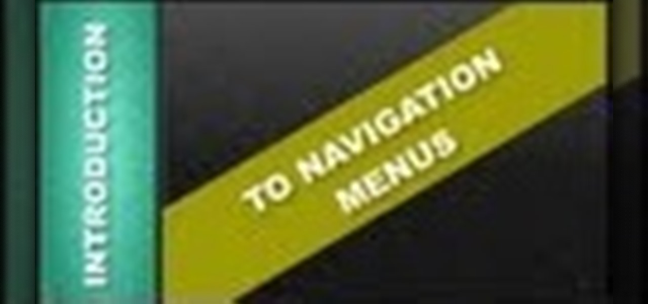 Intro to Navigation Menus Xara Web Designer
