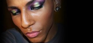 Create a velvety purple coronet-inspired eye look