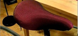 Recover your bike seat by sewing your own drawstring seat cover