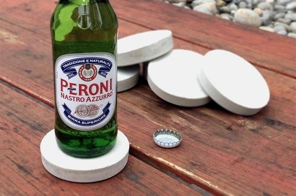 How to Make Sleek & Super Simple Drink Coasters Using Concrete & Plastic Cups