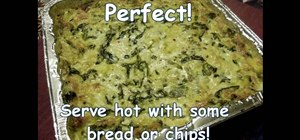 Make a delicious spinach and artichoke dip