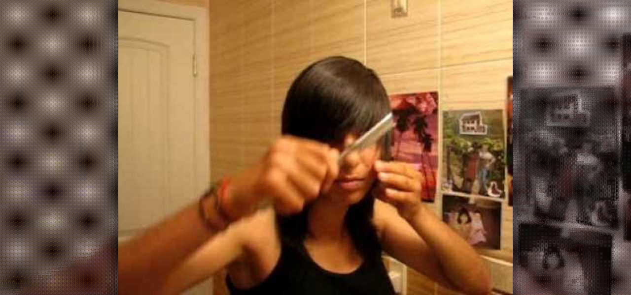 How To Cut Your Own Scene Hair Hairstyling Wonderhowto