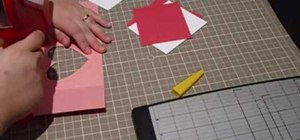 "Craft a heart-patterned ""Love You"" Valentine's Day card"