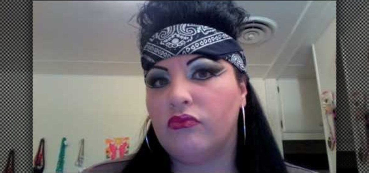 How to Create chola 80's style makeup