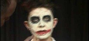 Make a prosthetic glasgow smile like the Joker in Batman