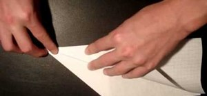 Make the classic dart style paper airplane