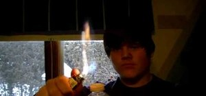 Make a tiny flame thrower out of a water bottle