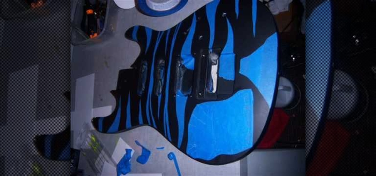 how to paint a guitar body using spray paint painting tips. Black Bedroom Furniture Sets. Home Design Ideas