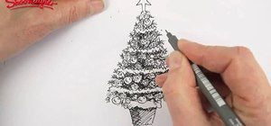 Draw and color a beautiful Christmas tree