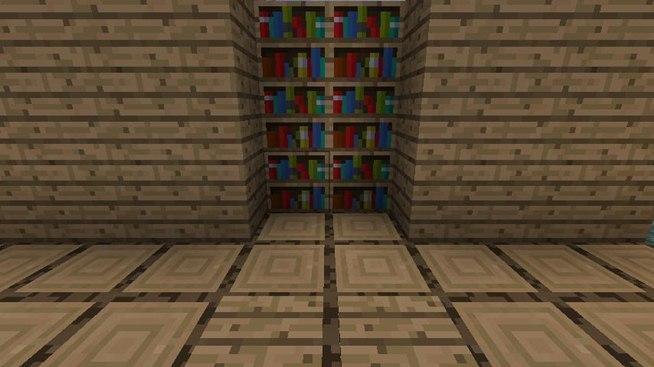 Hidden bookshelf door minecraft