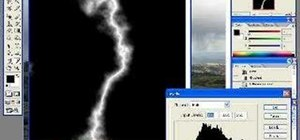 Create lightning effects for clouds in Photoshop