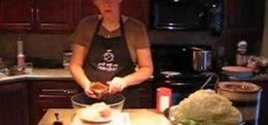 Make cabbage rolls