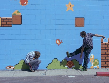 Interactive Super Mario Street Art