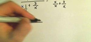 Simplify complex fractions in algebra
