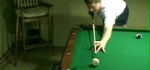 Use proper pool cue stick grip, stance and stroke