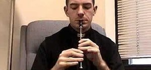Play a cut on a tin whistle