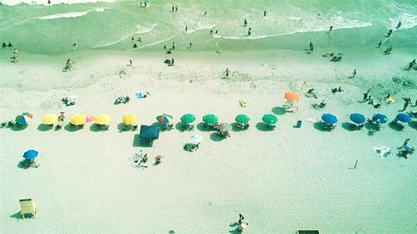 Birds Eye View Challenge: Fun in the Sun in Sand and Surf