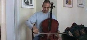 Play the cello with proper bow control