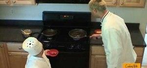 Make a beef jerky omelette