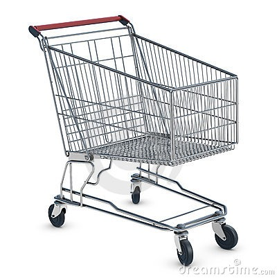 Backwords Shoping Cart Down a Hill