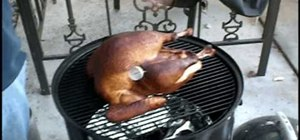 Smoke a turkey with Weber Smokey Mountain Cooker