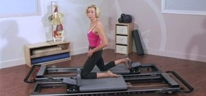 Balance hip flexors/extensors with a Pilates Reformer