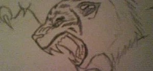 Draw an angry tiger