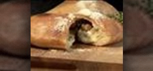 Make a calzone (stuffed pizza)