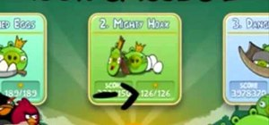 Find all fifteen golden eggs in the iPhone game Angry Birds