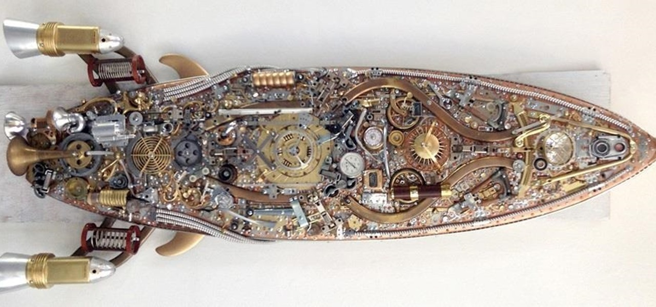 Steampunk Surfboard