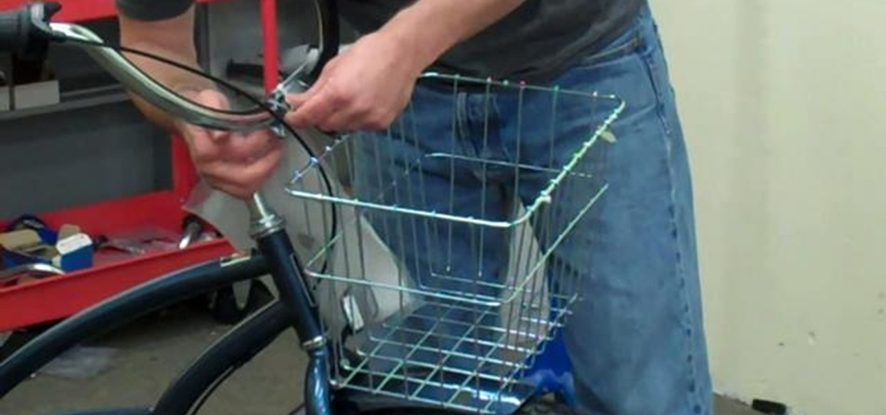 How To Mount A Wire Basket To The Front Of Your Beach