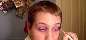 Create a pink and purple drag queen eye makeup look