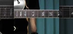 Play a swinging blues guitar lick in the key of A