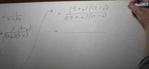 Find the sum of reciprocals of complex numbers