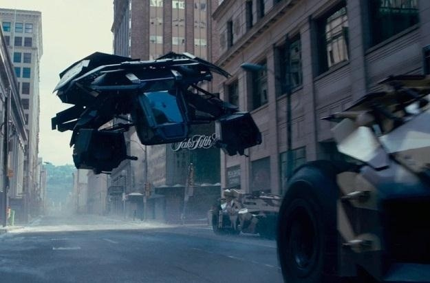 It was designed for  urban pacification  and is built to navigate a city environment. It features large propellers on its undercarriage that create an air ... & Bat Science: How Realistic Are Batmanu0027s Gadgets in Dark Knight Rises ...