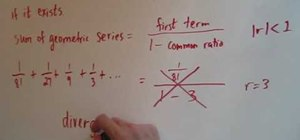 Find the sum of an infinite geometric series