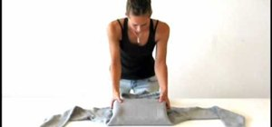 Transform a hoodie into a laptop bag