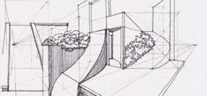 Draw a modern complex levels garden