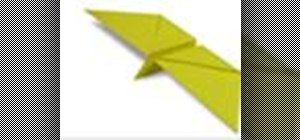 Origami a flapping butterfly Japanese style