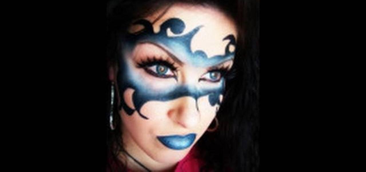 How To Apply A Mardi Gras Devious Mask With Makeup Makeup